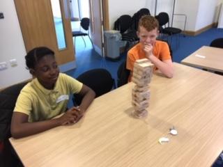 Children at listening workshop